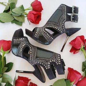 Fergie Studded Platform Sandal